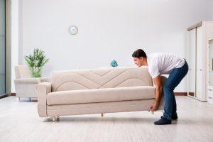 coloca muebles